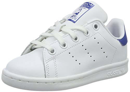 adidas-stan-smith-c-basket-unisexe-enfant-multicolore-multicolore-ftwwht-ftwwht-eqtblu-34-eu