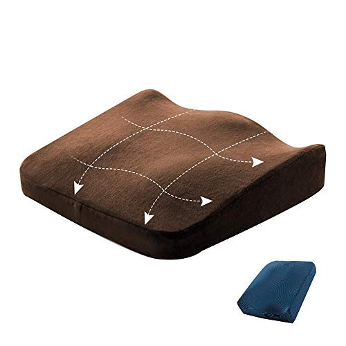 XIAOJUANJUAN Orthopädisches Sitzkissen Comfort Cushion Für Besten Sitzkomfort, Orthopädische Wirkung Durch Druckentlastung Und Entspannung Beim Sitzen (Color : Blue1, Size : 40x40x6.5cm)