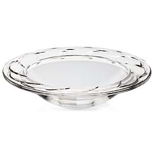 """Assiette creuse, Coupelle, Saladier, Idéal pour les dîners, Collection """"NORA - TYP 3"""", 31 cm, transparent (GERMAN CRYSTAL powered by CRISTALICA)"""