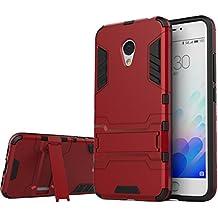 Meizu M3 Note Funda ,bdeals 2in1 Duro PC + Suave TPU High Absorción de Impacto [Kickstand] Armor Carcasa Case para Meizu M3 Note - Rojo