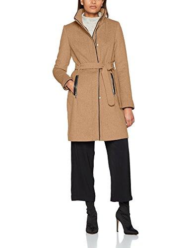 VERO MODA Damen VMPRATO Rich 3/4 Wool Jacket NOOS Mantel, Braun (Tigers Eye), 36 (Herstellergröße: S)