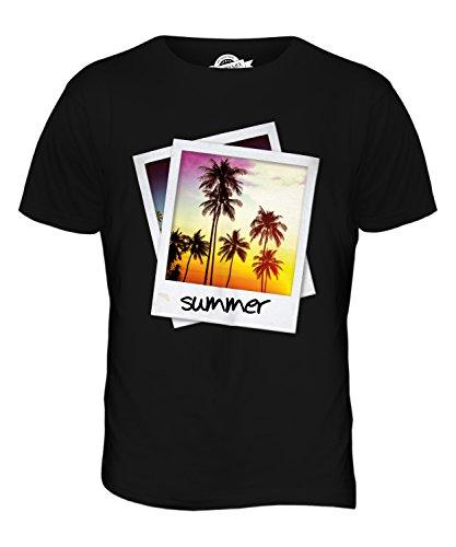 CandyMix Polaroid Di Estate T-Shirt da Uomo Maglietta Nero