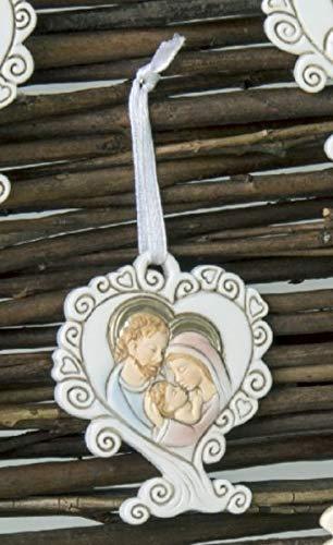 12 pezzi ricciolo icona sacra famiglia bomboniera comunione nascita