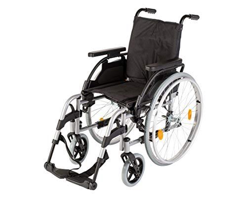 Sunrise Medical Rollstuhl Breezy PariX², faltbar, verstellbare Rückenlehne I Faltrollstuhl bis 125 kg belastbar, aus Stahl Standard-Rollstuhl in 5 Sitzbreiten, Sitzbreite: 45,5 cm