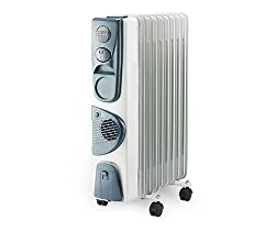 Usha 3211F PTC 2500-Watt Oil Based Radiator with Fan