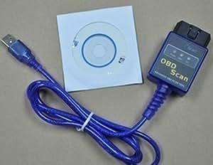 ELM327 USB OBD2 v1.5 voiture ligne de test de Auto diagnostic 2.1 Bleu