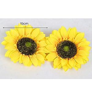 LACKINGONE – 5 Bolsas de Flores Artificiales de Seda, diseño de Margaritas, 15 cm
