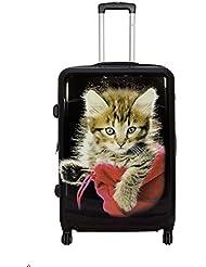 Koffer Katze Größe L Polycarbonat Hartschale Reisekoffer Trolley Case Bowatex