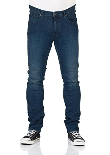 Lee Herren Jeans Luke Slim Tapered - Blau - Dark Trace - After Hours - Rinse - Night Worn - Dark Used, Größe:W 32 L 34;Farbe:Dark Used (AHQB) (Luke Jeans)