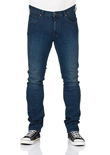 Lee Herren Jeans Luke Slim Tapered - Blau - Dark Trace - After Hours - Rinse - Night Worn - Dark Used, Größe:W 32 L 34;Farbe:Dark Used (AHQB) (Jeans Luke)
