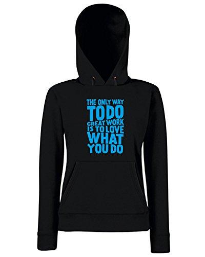 T-Shirtshock - Sweats a capuche Femme CIT0206 Steve Jobs citazione Noir