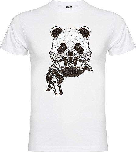 Wolkenbruch T-Shirt Graffiti Panda Vers. Farben Gr. M bis XXXXXL Weiß