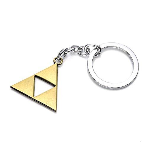 Desconocido Llavero de aleación de 3 x 3 cm, con símbolo de la Trifuerza de Zelda, 3 * 3cm, 1