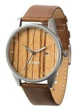LAiMER Montre en bois NOA– Montre homme 100% bois de zébrano pour un confort au porter et un lifestyle uniques - naturelle, légère, Tyrol du Sud