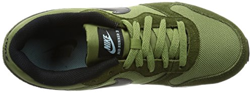 Nike Herren Md Runner 2 Laufschuhe Mehrfarbig (Legion Green / Black / Palm Green / Mica Blue)