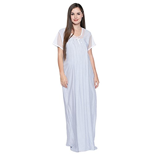 Valentine Maternity Nightwear for Feeding Women - Regular Fit - Full Length - Maternity/Feeding/Nursing Nighty for Women - Available Size S/M/L/XL/XXL - Branded Maternity Long Nighty for Women