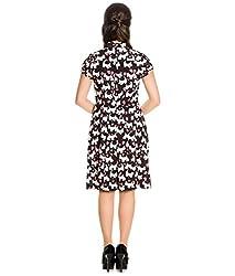 Hell Bunny Aggy Scottie Dog & Hearts Vintage Style Chiffon Short Dress
