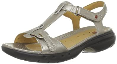 Clarks Un Swish, Sandales femme - Ivoire (Metallic Leather), 41.5 EU (7.5 UK)
