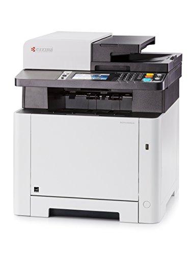 Kyocera Ecosys M5526cdw 4-in-1 WLAN Farblaser Multifunktionsdrucker | Drucker • Kopierer • Scanner • Faxgerät | Mobile-Print-Unterstützung für Smartphone und Tablet (Hp-drucker-apps)