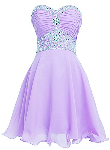 Azbro Women's Strapless Rhinestone Ruched Short Cocktail Dress Corail
