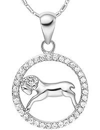 Sternzeichenkette Wassermann, Damen Halskette mit Sternzeichen Anhänger, Zirkonias, Autiga®