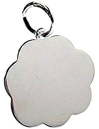 Colgante plata ley 925m 20mm. chapa nube para grabar [AA8491GR] - Personalizable - GRABACIÓN INCLUIDA EN EL PRECIO