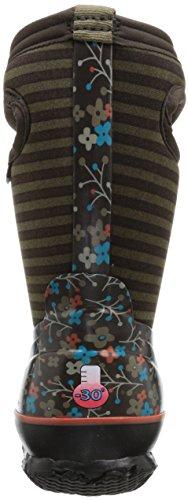 BOGS classic stripes pour enfant flower Chocolate Multi