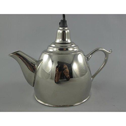 Nostalgische Deckenlampe Wasserkessel Teekessel Teekanne vernickelt Küchen Deko