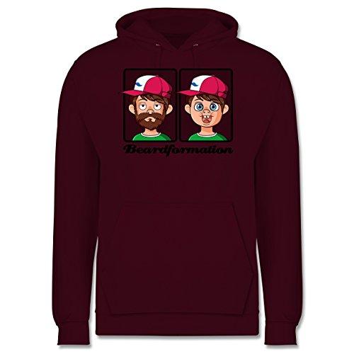 Statement Shirts - Beardformation - Männer Premium Kapuzenpullover / Hoodie Burgundrot