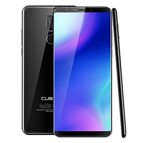 4G Smartphone Entsperrt Cubot X18 Plus, 5,99 Zoll 18: 9 FHD + Bildschirm 4 GB / 64 GB Android 8.0 Dual SIM Handy, mit 4000 mAh Akku, ROM, 20MP + 2.0MP Hauptkamera, 13MP Frontkamera, Octa Core Prozessor, 1,5 GHz 64 -bit MT6750T, 0.1s Fingerabdrucksensor, 2.5D Curved Screen, GPS, WiFi (Schwarz)