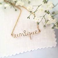 Collier message personnalisé, message d'amour, message d'amitié, cadeau personnalisé, cadeau pour elle
