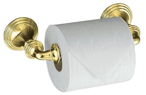 KOHLER K-10554-PB Devonshire Toilet Tissue Holder, Double Post, Vibrant Polished Brass by KOHLER (English Manual)