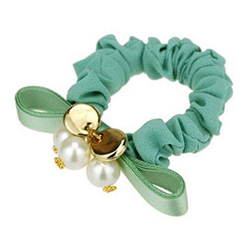 3PCS Femmes élastiques Elastiques Accessoires cheveux, vert