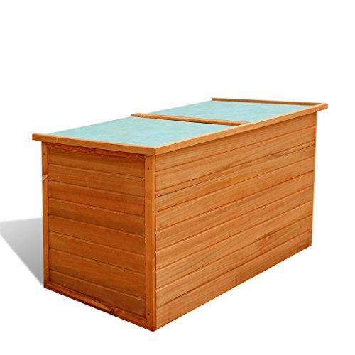 Preisvergleich Produktbild Festnight Wasserdichte Garten-Aufbewahrungsbox Gartenbox Auflagenbox aus Holz 126 x 72 x 72 cm für Garten oder Terrasse