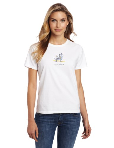 Life is Good Damen Jackie Zero Tasking Crusher Tee XS Wolkenweiß (Damen-crusher)