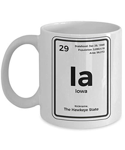 Iowa Coffee Mug Periodic Table Hawkeye State -