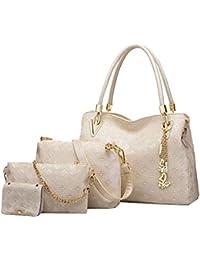 40ed66b2e8179 Krstay Shopper Handbag Classic Versatile Crossbody Trendy Mädchen  Schultertasche Mini Kawaii Clutches Stylischer 4 Set Handtasche