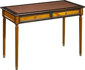 Table d'écriture merisier pieds Louis XVI