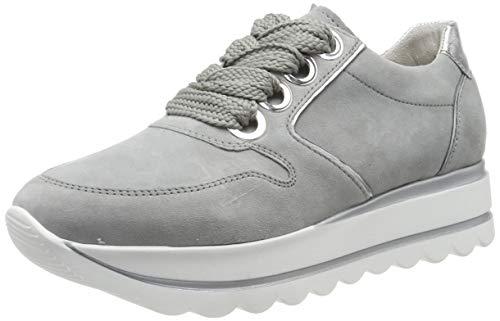 Gabor Shoes Damen Casual Sneaker, Grau (Grau/Silber 19), 38.5 EU
