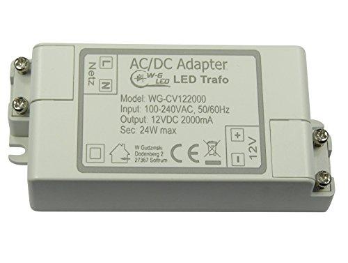 LED-TRAFO 12V-DC 24W max. Transformator-Netzteil 2A