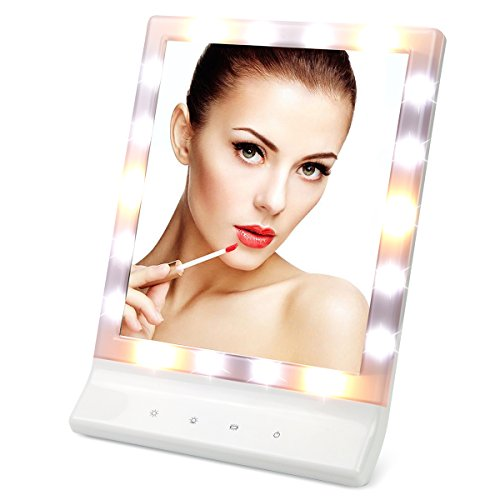 Best Price LED Makeup Mirror Table Top Vanity Illuminated Cosmetic Mirror