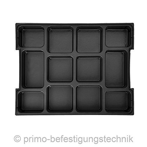 12fach Einsatz für Werkzeugkoffer L-Boxxen Koffer Größe 1 485M1-T12