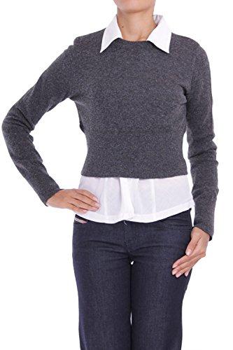 ANTA Q'ULQI - Pullover a maglia con collo Rotondo con Alpaca - grigio, L