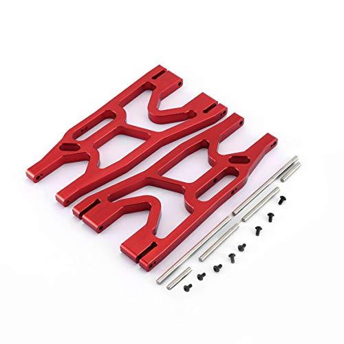 ngzhongtu CNC Aluminiumlegierung Unterer Querlenker Vorne Hinten A-Arm Für Traxxas X-MAXX 1/5 Ferngesteuerter LKW RC Auto Zubehör - Rot