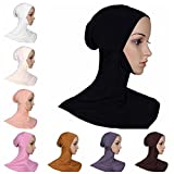 BaiTe Damen Hijab Kopftuch Islamisch Kopfbedeckung Turban Bedecken Motorhaube Hals