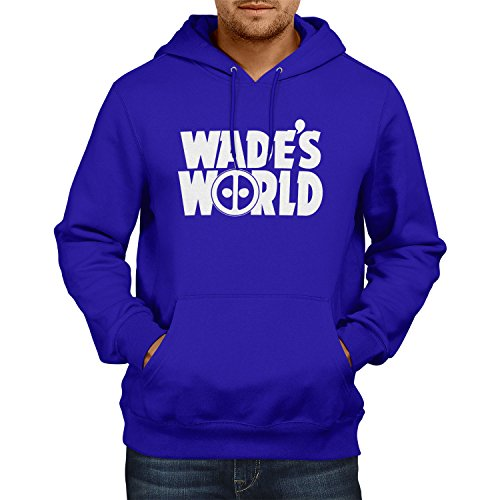 TEXLAB - Wade´s World - Herren Kapuzenpullover, Größe L, marine