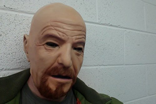 WALTER WHITE latex maske cosplay kostüm neu