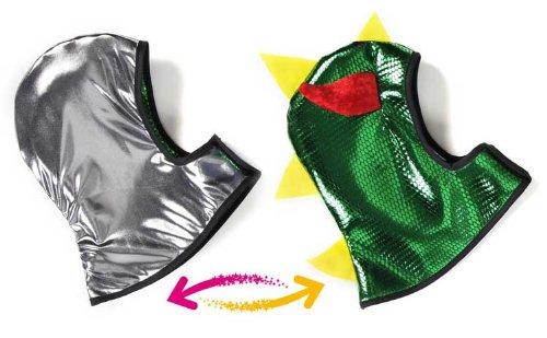 Imagen 1 de Grandes imitaciones - capucha reversible para disfraz de Caballero o Dragón (a partir de 4 años) - 36.8 x 31.8 x 1 cm
