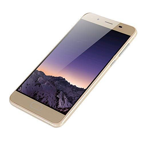 JYC 5.0'Ultrathin Android 5.1 Quad-Core 512MB + 512MB gsm WiFi Dual SIM Dual Camera Smart Cellphone (Oro)