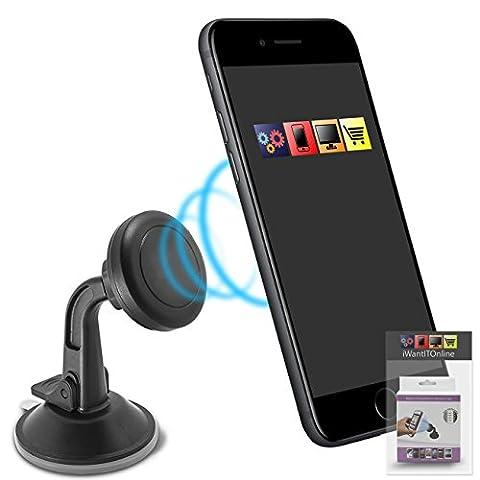 Magnetic Adjustable Universal Car Windscreen Suction Mount Phone Holder Multi-angle 360 Degrees Rotation for Orange San